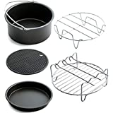5pcs/Set Air Fryer Accessories Baking Basket Pizza Plate Grill Pot Pan Mat