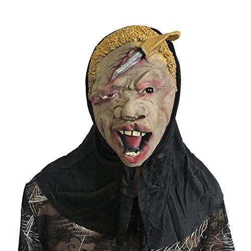 SCLMJ Halloween Scary Maske Scary Gesicht Skeleton Kopf Latex ()
