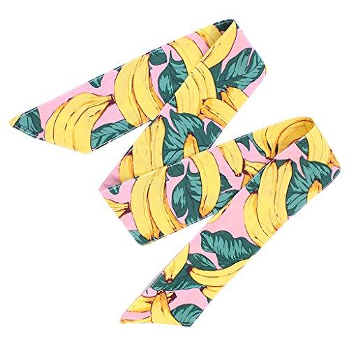 (MagiDeal Baby Stirnband Mädchen Haarband Hasen Ohr Kopfschmuck Obst/Blumen Motiv - Banane, wie beschrieben)