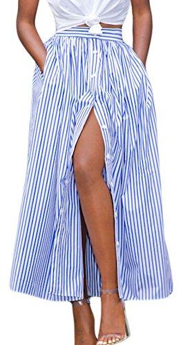 la-vogue-femme-jupe-bleu-long-rayure-bouton-casual-poche-cheville-pliss-l