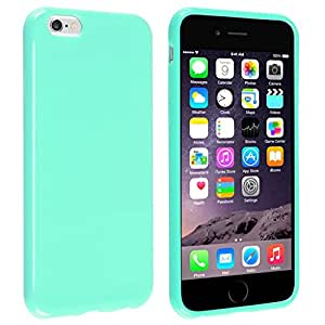 iPhone 6 Case, Pack of 2 G-i-Mall [Slim Fit] TPU Case Skin Cover [Anti-Shock Protection] Compatible with Apple? iPhone 6 (4.7), Mint Green Jelly (Free gifts: 1x iPhone 6 Screen Protector, 1x Touch Pen, 1x Anti Dust Plug)
