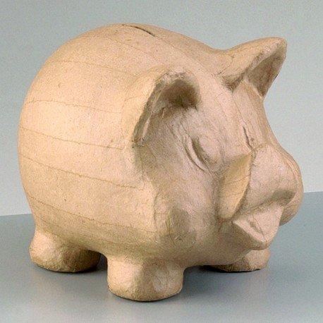 efco Spardose aus Pappmaché Form Schwein Nature Vogelhäuschen, 19x 13x 15cm (Pappmaché-formen)
