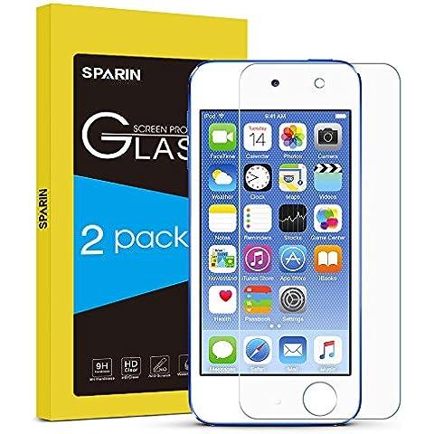 [2-Pack] iPod Touch 6 Protector de Pantalla,SPARIN® Cristal Templado Protector de Pantalla para iPod Touch 5/6,Vidrio Templado con [Alta Dureza][Alta Transparencia] [Garantía de por
