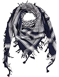 e5f878963d7 Freak Scene® Foulard palestinien keffieh en coton - bicolore - 100 x 100 cm