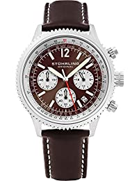 Stuhrling Original Analog Brown Dial Men's Watch - 669.03