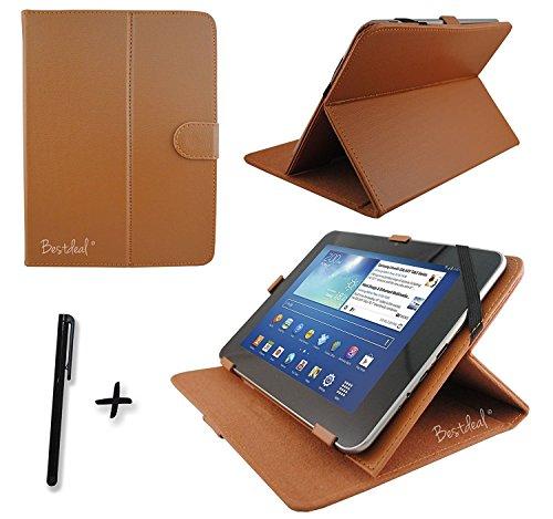 bestdeal® Braun PU Leder Fall & Ständer für Amazon Fire HD 1025,7cm Zoll Tablet PC + Eingabestift