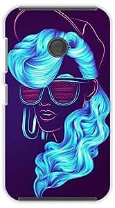 Crazy Beta Creative attitude Girl with blue colour hair and goggles 3d design Printed mobile back cover case for Nokia Lumia 530
