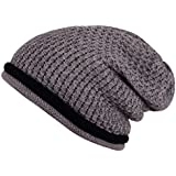 Noise Grey Criss-Cross Knitted Winter Cap - Size XL