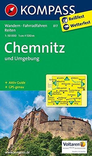 Chemnitz und Umgebung: Wanderkarte mit Aktiv Guide, Rad- und Reitwegen. GPS-genau. 1:50000 (KOMPASS-Wanderkarten, Band 817)