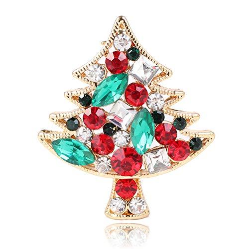 Kostüm Schmuck Weihnachtsbaum - Weihnachtsbrosche Weihnachtsbaum Design Kostüm Schmuck Sparkly Crystal Künstliche Weihnachtsbrosche Für Mädchen
