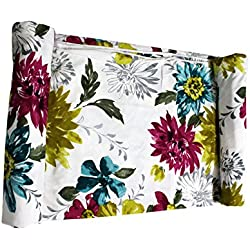 Frabjous Flower Printed Polycotton Double Bed Reversible Dohar/AC Blanket/Quilt Diwali Gift for Home