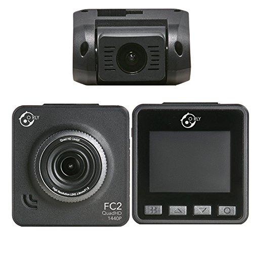 O rly fc2 quadhd dash cam camera doppia telecamera per auto 1440p 1080p, obiettivo grandangolare di 170 gradi, rilevatore di movimento, registrazione in loop, g-sensor sony imx 078 sensor