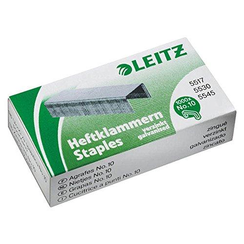 Leitz Punti Power Performance P2, Filo metallico robusto, Lunghezza gamba: 4 mm, Confezione da 1000 pezzi, Capacità fino a 10 fogli, 55770000
