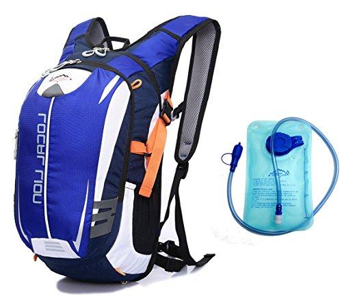 Cuckoo 18L Wasserdichte Hydratation Blase Pack Wandern Daypack Leichte Outdoor Sport Rucksack für Radfahren Radfahren Laufen Camping Blau + Hydratation Blase