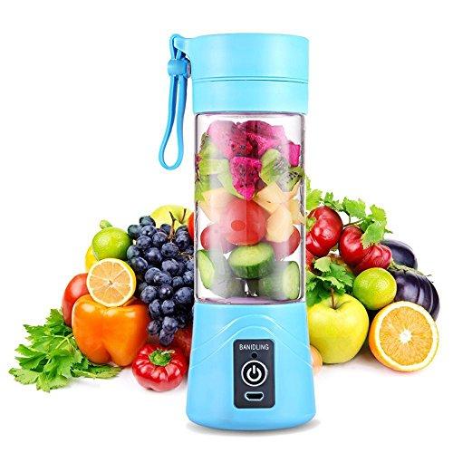 QYC® Mini Batidora Portátil, Licuadora para Fruta, Recargable Juice Blender con USB, Centrífuga Licuadora...