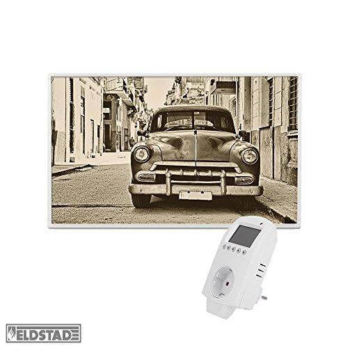 Eldstad Infrarotbildheizung 600W Thermostat Motiv Auto