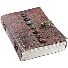 Creoly handgemachtes 'Edelstein' Journal aus geprägtem Wildleder (21cm x 15cm)