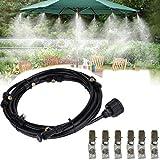 20FT (6M) Bewässerungssystem Outdoor Misting System Wasser Cooling Sprinkler System mit Fein vernebeltes Wasser mit 6pcs Nebel-Düse für Terrasse, Garten, Rasen, Blume, Outdoor, Gewächshaus, Trampolin