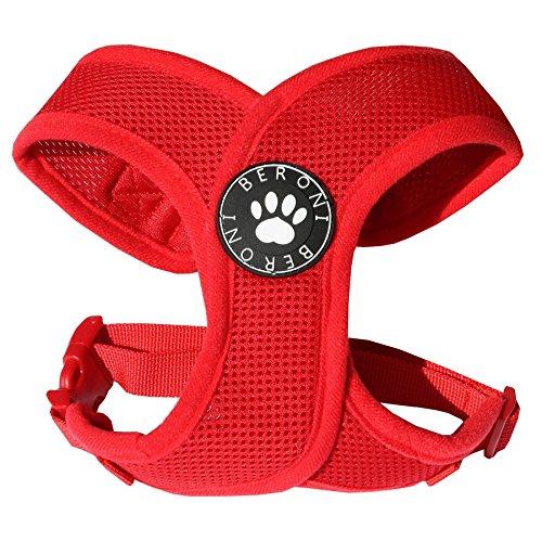 Softgeschirr Hundegeschirr Brustgeschirr XCross weich gepolstert verstellbar für kleine Hunde bis Mops rot Mesh NEU! S - L (S: ( Brustumfang 31 - 41 cm ))