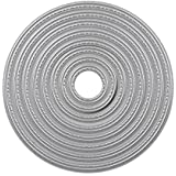 8pcs/set círculo corte de metal muere hogar decorativo Metal tarjeta de plantillas, diseño de tarjeta de papel Scrapbooking muere