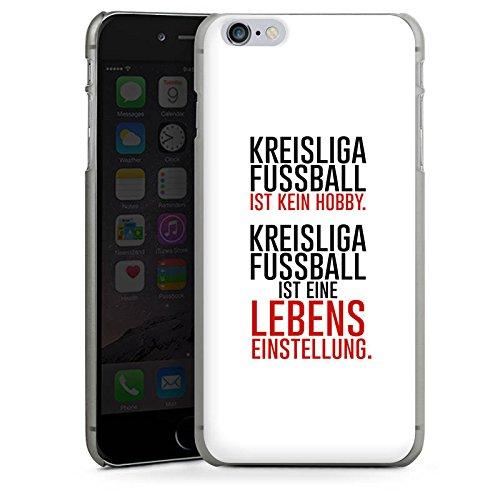 Apple iPhone X Silikon Hülle Case Schutzhülle Kreisliga Lebenseinstellung Fußball Hard Case anthrazit-klar