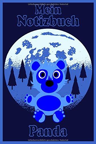 Mein Notizbuch Panda A5 120 Seiten liniert: Schreibblock Kinder Tagebuch Poesiealbum Pandabär Geschenk Weihnachten Geburtstag