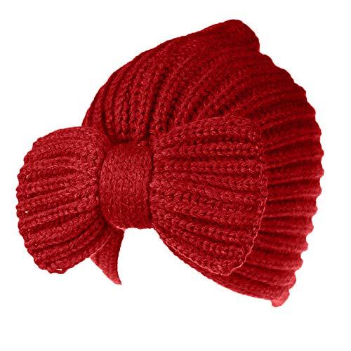 YWLINK Warm Eicht Und Weich Street PersöNlichkeit Einfarbig Elegant MüTze Winter Beanie FüR Damen MäDchen Ski Beanie SchäDel Slouchy Caps Hut(Rot)