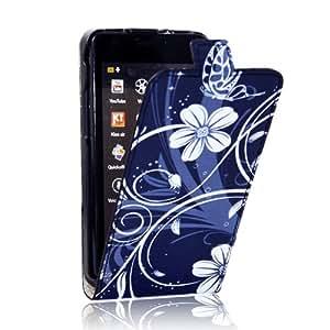 Electro-Weideworld Leder Tasche PU Flip Case für Samsung Galaxy S2 GT-i9100 Hülle Bunt Cover 121+#