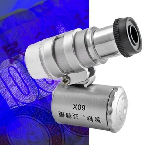 Ecloud Shop® Mini Microscopio 3 UV LED Luz portátil