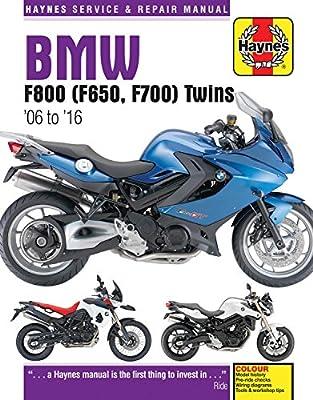 BMW F800, F700 & F650 Twins Service and Repair Manual (Haynes Service & Repair Manual)
