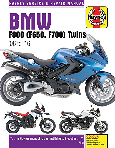 BMW F800 (F650, F700) Twins (06 - 16) Update: 2006-2016 (Haynes Service and Repair Manual) por Phil Mather
