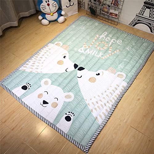 Épais Tapis Rampant, Cartoon Souple et Respirante étanche Tapis Anti-dérapant Baby Mat Salon Chambre-M 145x195cm(57x77inch)