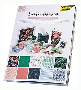 Folia 37001 - Papel con diseño Impreso por una Cara, 80 g/m², Hojas en 10 diseños Diferentes, Aprox. 50 x 70 cm, Multicolor