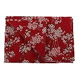 perfk Stoffpakete DIY Pflaumenblüte gedruckt Baumwolltuch