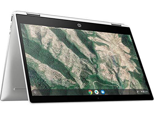 HP Chromebook 14b-ca0015TU x360 Thin and Light Touchscreen 14-inch HD Laptop (4GB/64GB SSD + 100 GB Cloud Storage/Chrome OS/Intel UHD Graphics), Natural Silver Image 2