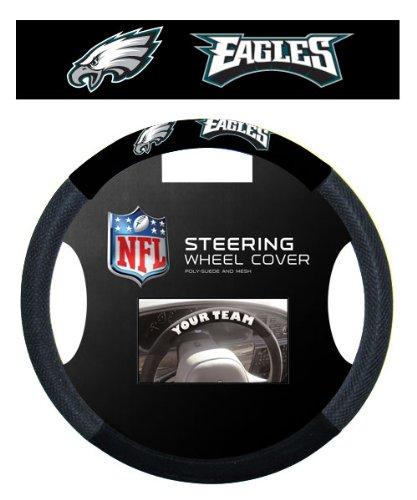 Fremont Die NFL Massage Grip Lenkradhülle, Unisex, schwarz, Einheitsgröße - Eagle Halfter