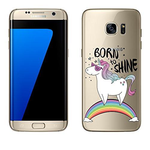 Samsung-Galaxy-S7-Edge-Hlle-von-licaso-aus-TPU-schtzt-Dein-S7-Edge-55-Born-to-Shine-Einhorn-Regenbogen-Sonnenbrille-Schutz-Hlle-transparent-klare-Schutzhlle-Tasche-Silikon-Style-Samsung-Galaxy-S7-Edge