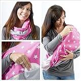 MANIA Stillschal Stilltuch Sterntaler pink mit Einschub für Stilleinlage in Größe L-XL, Handarbeit!