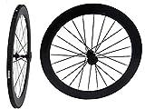 Carbone 3K pour vélo de route tubulaire Roues Jante de roue de vélo 60mm