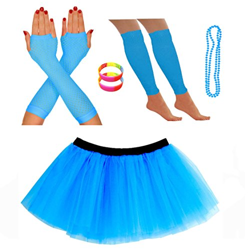 Neon Tutu Skirt and Accessories - many colours - ideal for fun runs, hen nights, 80s dress-up etc.
