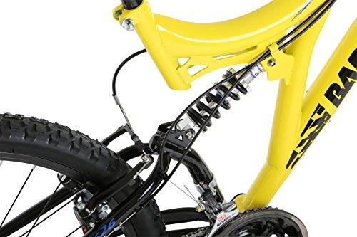51IkoPx6Q4L - Barracuda Unisex Draco Ds Wheel 18 Inch Full Suspension Frame Mountain Bike, Yellow, 26
