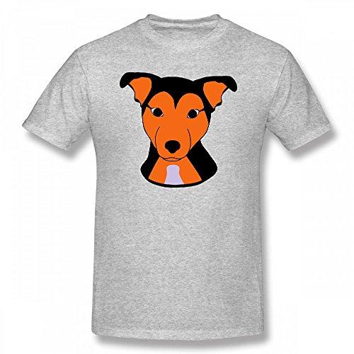 Custom Mens Short T Shirt - Design Cute Dog Tee - Dog Design Tee T-shirt