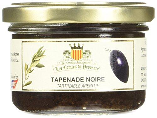 Les Comtes de Provence Tapenade d'Olives Noires 90 g - Lot de 6