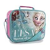Disney Frozen - Borsa Contenitore per Pranzo di Elsa Queen Of Snow - Bambina (Taglia unica) (Blu/Rosa)