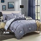Die besten Gemütliche Bettwäsche Tröster Sets - Bettbezug Set, Morbuy Städtisches Gitter Muster 3 Teilig Bewertungen