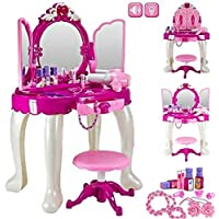 Sajani Glamour Princess Dressing Table with Light and Sound Special for Gift