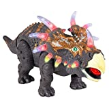 ThinkGizmos Walking Dinosaur Toy – Triceratops With Amazing Roar Sounds, Lights & Movement (Trademark Protected)