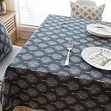 DKEyinx Frischer Baum Print Rechteck Tischdecke Abdeckung für Bankett Party Home Decor, Baumwolle Leinen Black 140 * 180cm