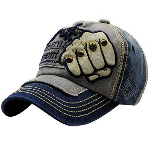 ACVIP Cool Mode Ajustable Casquette de Base-Ball Chapeau Visière Motif Poing en Tissu de Coton pour Adulte Homme Femme