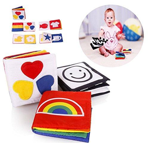 3 Pcs Bébé Livre des Découvertes en tissu, Jouets éducatifs pour enfants - Gearmax